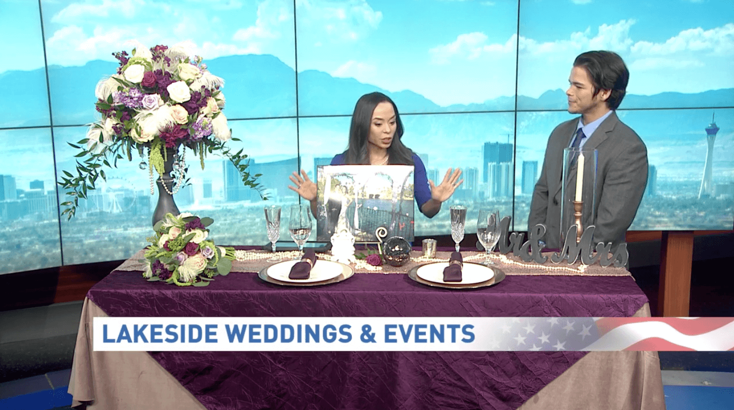 Lucas Guiterez with Lakeside Weddings on KSNV Channel 3 News