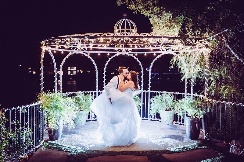 Las Vegas Ceremony Only Lakeside Gazebo Wedding Package