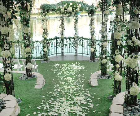 Las Vegas Wedding Venues - Heritage Garden Ceremony Site at Lakeside Weddings and Events