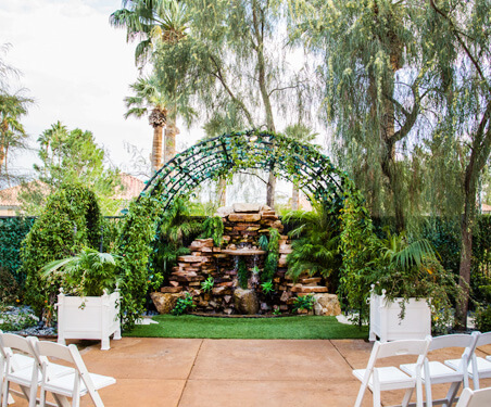 Waterfall Garden Wedding Venue in Las Vegas