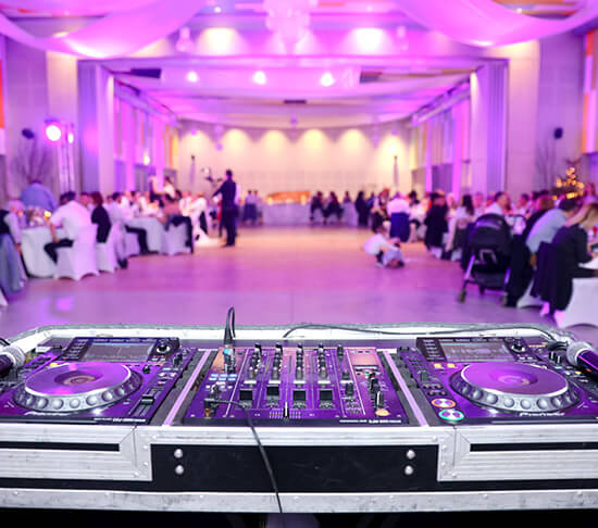 Lakeside Weddings and Events in Las Vegas - Reception Hall DJ music