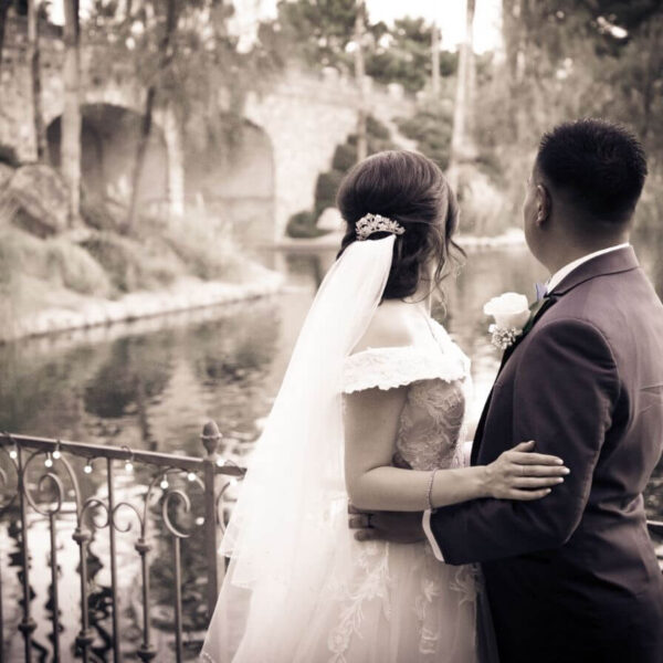 Affordable Ceremony Only Las Vegas Wedding Package with Lake and Garden Views
