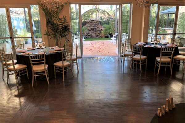 All Inclusive Ceremony and Reception Las Vegas Wedding Package with Waterfall and Garden Views