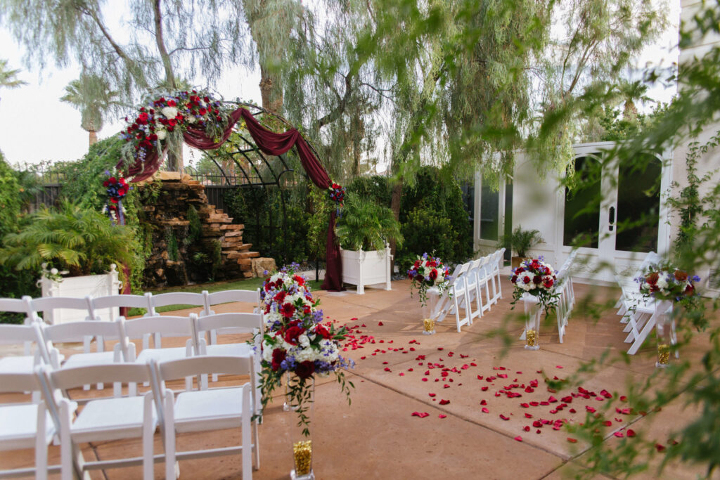 Waterfall Garden All Inclusive Las Vegas Ceremony and Reception Wedding Venue Package