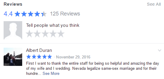 Facebook Reviews for Lakeside Weddings and Events Ceremony and Reception Venue in Las Vegas