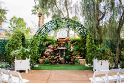 Waterfall Garden All Inclusive Ceremony and Reception Wedding Packages in Las Vegas