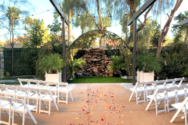 Las Vegas All Inclusive Waterfall Garden Ceremony and Reception Wedding Package