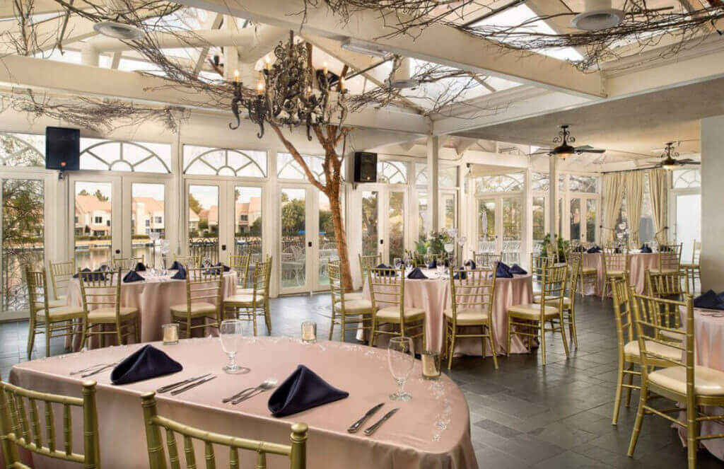 Las Vegas Reception Only Venue Package for Lakeside Weddings and Events Swan Banquet Room