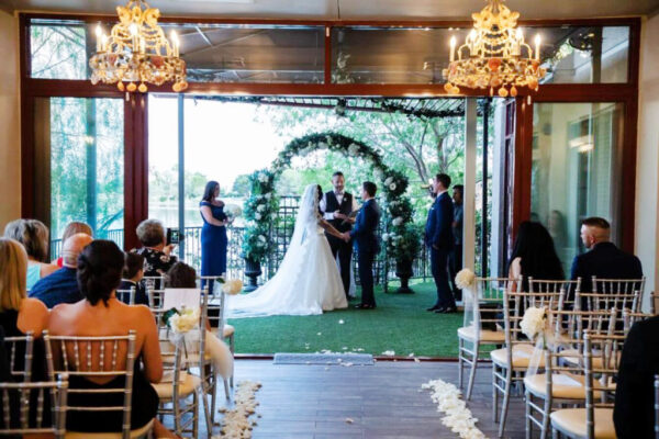 Indoor Las Vegas Wedding Chapel with Lake Ceremony Option Near the Vegas Strip