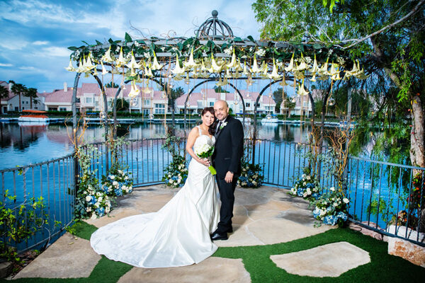 Swan Garden Las Vegas Lake Wedding Ceremony Packages with Lakefront Gazebo