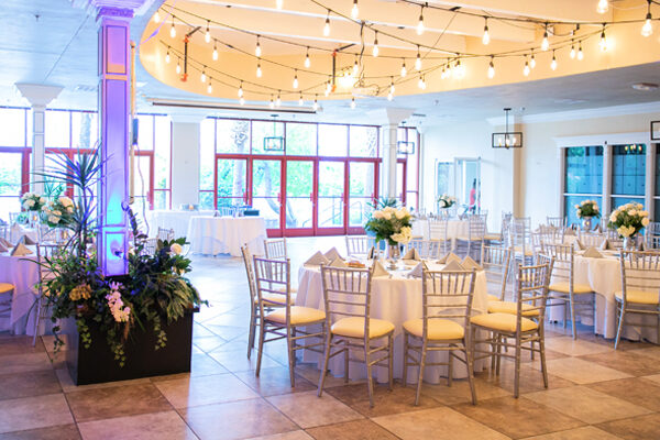 Grand Garden All Inclusive Las Vegas Lake Wedding Packages with Modern Reception Hall and Lakeside Ceremony Site