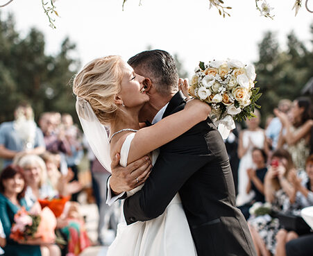Outdoor Las Vegas Ceremony Wedding Packages with Gazebo and Lake Views