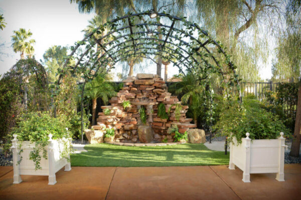 All Inclusive Las Vegas Wedding Venue Ceremony and Reception Waterfall Garden Packages