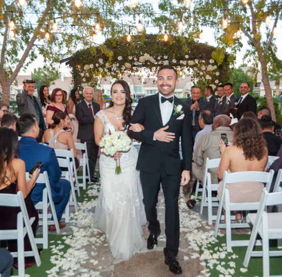 Outdoor Las Vegas Ceremony Only Wedding Venue Packages with Lake Views