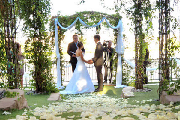 Popular Las Vegas Ceremony Only Lake Wedding Packages for Heritage Garden