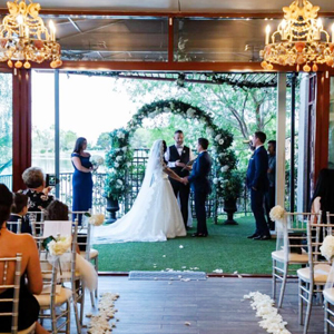 Las Vegas Wedding Chapel Ceremony Only Venue Package with Lake Views