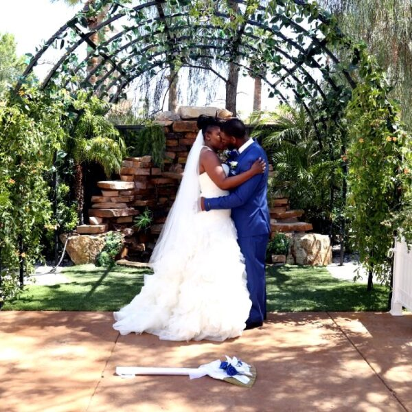 Waterfall Garden Ceremony Venue with Affordable Las Vegas Wedding Packages