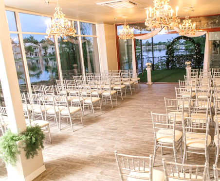 Lakeside Weddings and Events Wedding Chapel in Las Vegas with Indoor and Outdoor Package Options