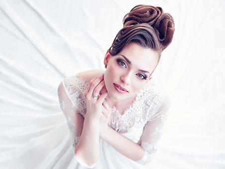 Full Service Las Vegas Wedding Venue Ceremony Updo Hairstyle Ideas