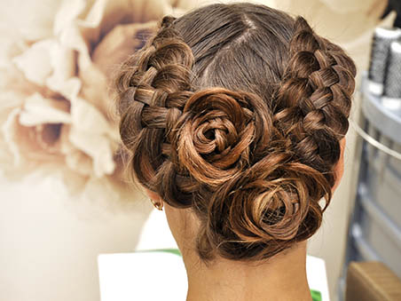 Reception and Ceremony Bridal Updo Hairstyle Examples for Las Vegas Wedding Packages