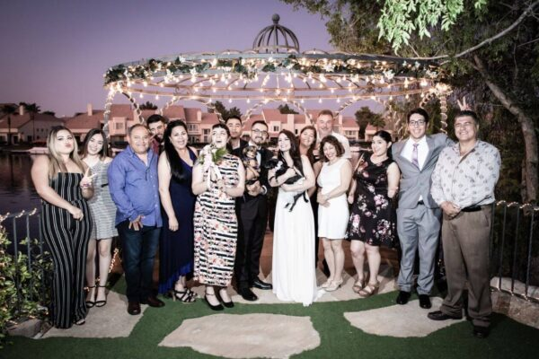Las Vegas Wedding Reception Hall Venues and Packages with Lakeside Gazebos