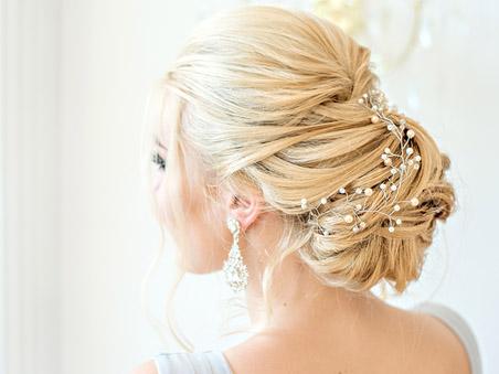 Trendy Las Vegas Wedding Venue Ceremony Updo Hairstyle Ideas