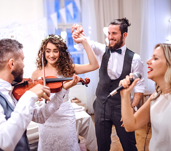 Las Vegas Wedding Reception Hall Packages DJ or Live Music